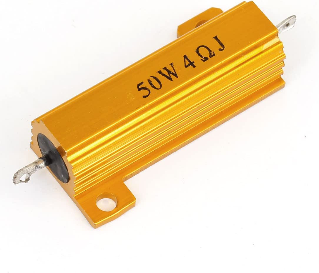 Aexit Special sale item 5% 50W Variable Resistors Ohm 4 Aluminium Soldering Wirewound Housed