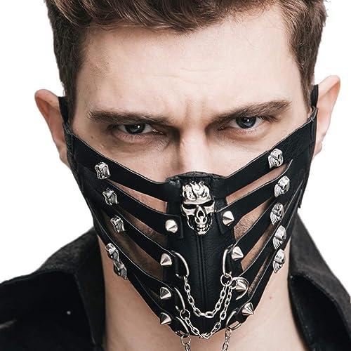 40% de descuento BXR Steampunk Mask Mask hombres y mujeres Cosplay Stereo Personality Personality Personality Rock Rock Riding Mask  autentico en linea