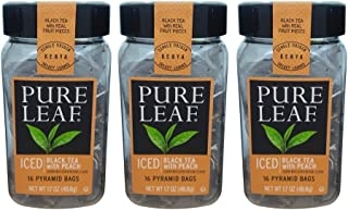 Specialty Tea 3 pack by PURE LEAF Tea (Black Tea w/Peach)