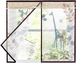 Magnetisch venster scherm, Mesh onzichtbare gordijnen volledige frame Magic Sticker houdt muggen uit voor deuren, Patio's ...