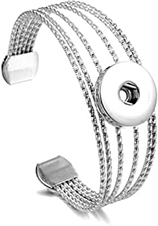 Open Cuff Bangle Bracelet Women's Stainless Steel A Variety of Styles (Color : 2)