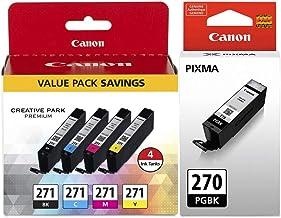 Canon PGI-270 Pigment Black Ink Tank + Canon CLI-271 CMYK...