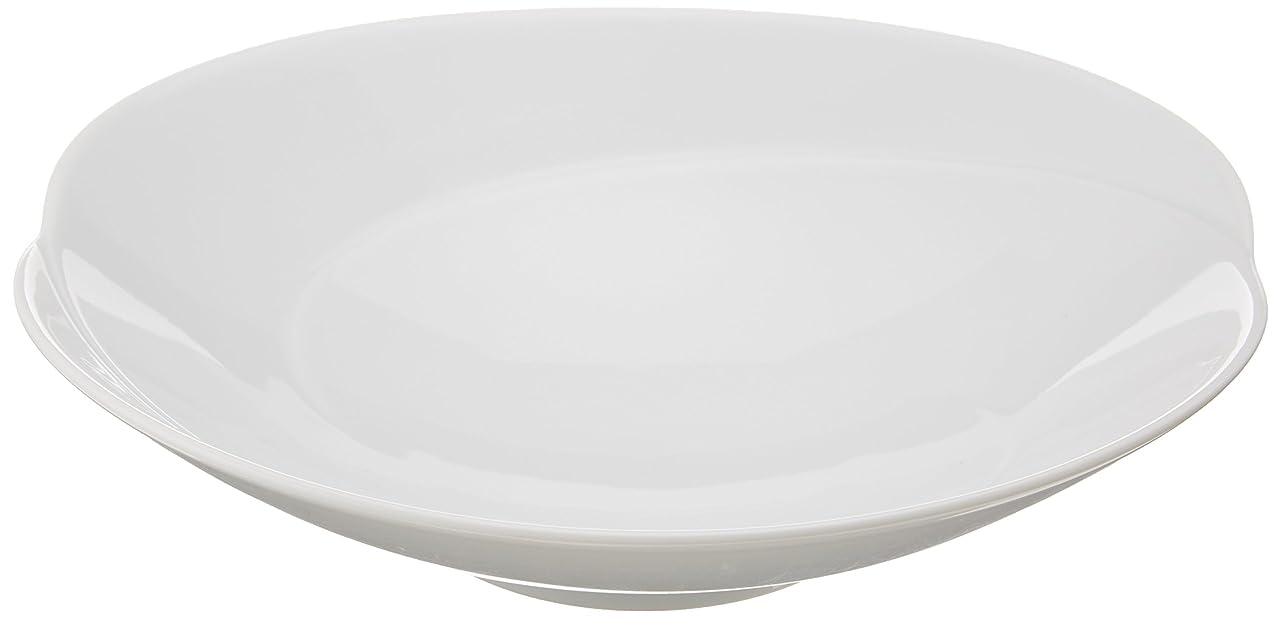 スペイン語教科書行く白山陶器 浅鉢(中) 白磁 (約)17×3.8cm  ともえ TOMOE 波佐見焼 日本製