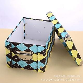 AQGELSNX Boîte de Rangement de Bureau boîte de Rangement Portable Minimaliste Moderne Papier boîte de Rangement Portable @...
