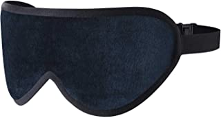 Masters of Mayfair Luxury Sleeping Mask Eye Shade with Silk and Lavender Scents (Navy Blue)