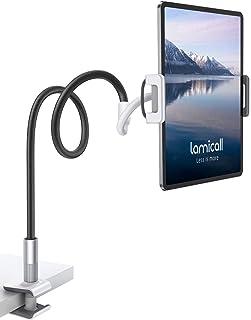 "Tablet Holder, Lamicall Tablet Holder Stand for Bed Gooseneck 360 Flexible Lazy Arm Clamp Mount Bracket for 4.7~10.5"" iPad..."