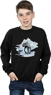 Star Wars Boys Christmas at-at Reindeer Sweatshirt