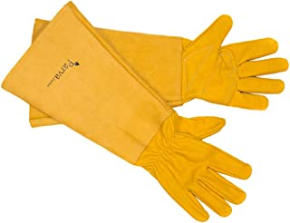 Parva Garden Rose Gloves Elbow Length Garden Gloves Thorn Proof Canvas Gauntlet (Extra Small)