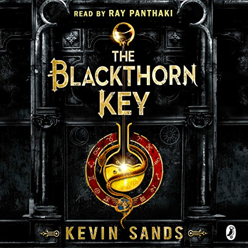 The Blackthorn Key audiobook cover art