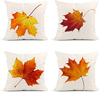 Britimes Throw Pillow Covers Fall Home Decor Set of 4 Pillow Cases Decorative 18 x 18..