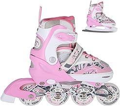 NILS NF10927 2-in-1 skates/inliner schaatsen, verstelbaar, maat 31-34, 35-38, 39-42) / ABEC7 kogellagers/roze