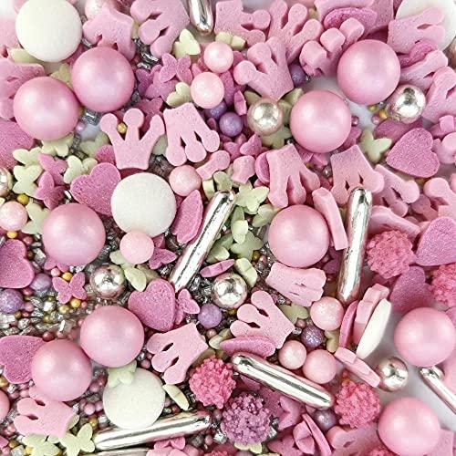 Streuselheld Principessa Streusel per decorare e decorare dolci di tutti i tipi, come torte, biscotti, pasta di zucchero, 40 g