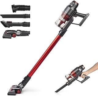 comprar comparacion H.Koenig UPX18 Aspiradora Escoba Sin Cable 2 en 1, Aspiradora de Mano, 22000 Pa, 220 W, 25.9 V, Filtro HEPA, Sin Bolsa, 3 ...