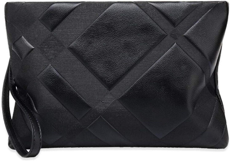 JBHURF Hand Grab Grab Grab Envelope Business Casual große Kapazität Clutch Bag Herren Leder Geldbörse schwarz (Farbe   SCHWARZ) B07H71J89L 69051a