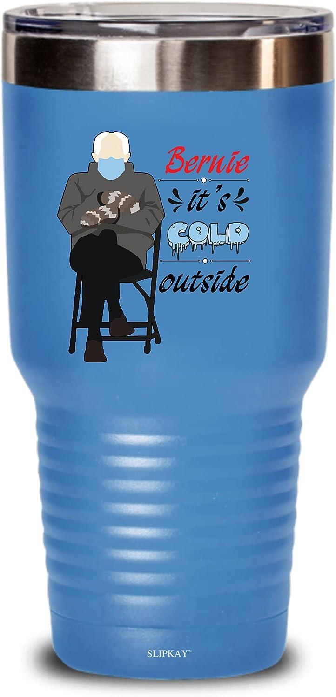 Bernie Sanders Mittens Its Cold Genuine Outside Finally resale start 30oz Tumbler Gift