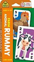 School Zone - Farm Animal Rummy Card Game - Ages 4+, Preschool to Kindergarten, Counting, Matching, Numbers, and More (Sch...
