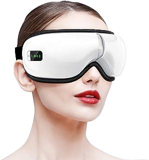 ماساژور چشم HOMIEE ، ماساژور مراقبت از چشم بی سیم بلوتوث قابل حمل با فشار هوا ، کمپرس داغ ، لرزش ، موسیقی برای خستگی چشم ، خشکی چشم و دایره های تاریک ، قابل شارژ و 180 درجه تاشو