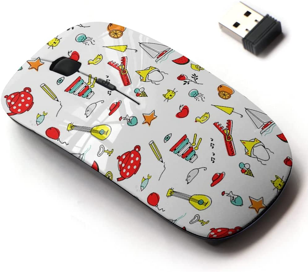 2.4G Wireless Mouse with Finally popular brand Cute Pattern and Design Laptops All Max 40% OFF for