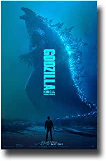 Godzilla II Poster Movie Promo 11 x 17 inches King of The Monsters 2019 Blue Dinosaur