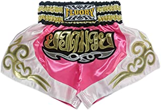 FLUORY Kids Muay Thai Shorts Children Boxing Fighting Shorts for Boys and Girls