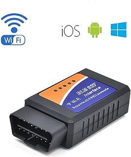 Hihey Dispositivo de diagn/óstico de autom/óvil OBD II ELM 327 WiFi V1.5 OBD2 OBDII Analizador de diagn/óstico de autom/óvil PIC18F25K80 Chip OBD 2 Lector de c/ódigo autom/ático Android//iOS Herramienta
