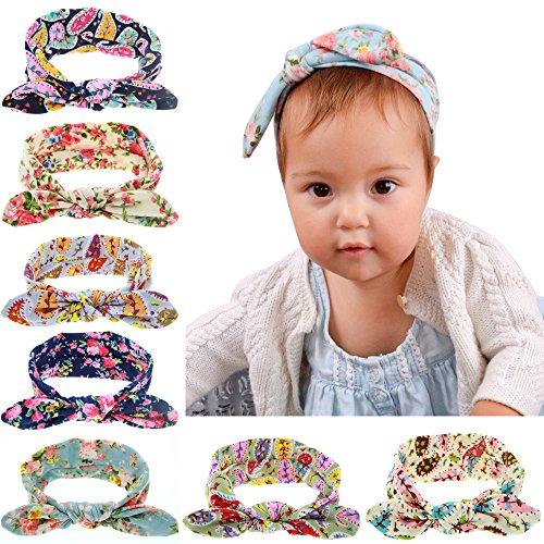 8 unids Anudado Arco Impreso Flor de La Venda Venda de Los Niños Al por Mayor Hairbands