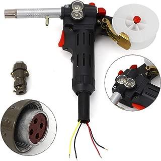 Mig Welding Spool Torch Gun, Electric Welder Flux Welding Torch Stinger Replacement Push Pull Feeder Aluminum Welder Use Standard Spool for MIG MAG Welding Machine