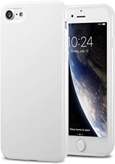 TENOC Phone Case Compatible for Apple iPhone 8 & iPhone 7 4.7 Inch, Slim Fit Soft TPU Bumper Protective Cover, Glossy White