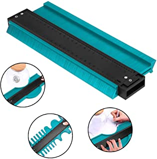 HEQUN Perfil Gauge, Medidor de Contornos,Contour Gauge Duplicator Ideal para Azulejos Edge Shaping Madera Medida & Azulejos laminados (verde) (L)