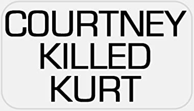 Courtney Killed Kurt - 25 Stickers Pack 2.25 x 1.25 inches - Love Cobain 90s