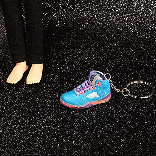 ANCHANG Moda 3D Colgante Coche Motocicleta Llavero AJ Llavero Zapatillas de deporte Zapatos de baloncesto creativos Mini bolso Modelo Colgante Regalo 5 cm * 1.8 cm * 2 cm Estilo-06