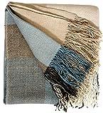 Lorenzo Cana Luxus Alpakadecke 100prozent Alpaka Fair Trade Decke Wohndecke handgewebt Sofadecke Tagesdecke Kuscheldecke Umhang 9603077