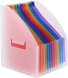 DEDC 5 Teilig Zeitschriftensammler aus Kunststoff Zeitschriften Aufbewahrung Datei Ordner Stehsammler Zeitschriftenst/änder Aktenhalter Schreibwaren B/ürobedarf Zeitschriftenhalter