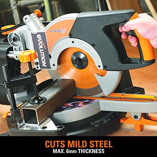 Evolution RAGE3+ Multipurpose Sliding Mitre Saw 255 mm With Accessory Pack (110 V)
