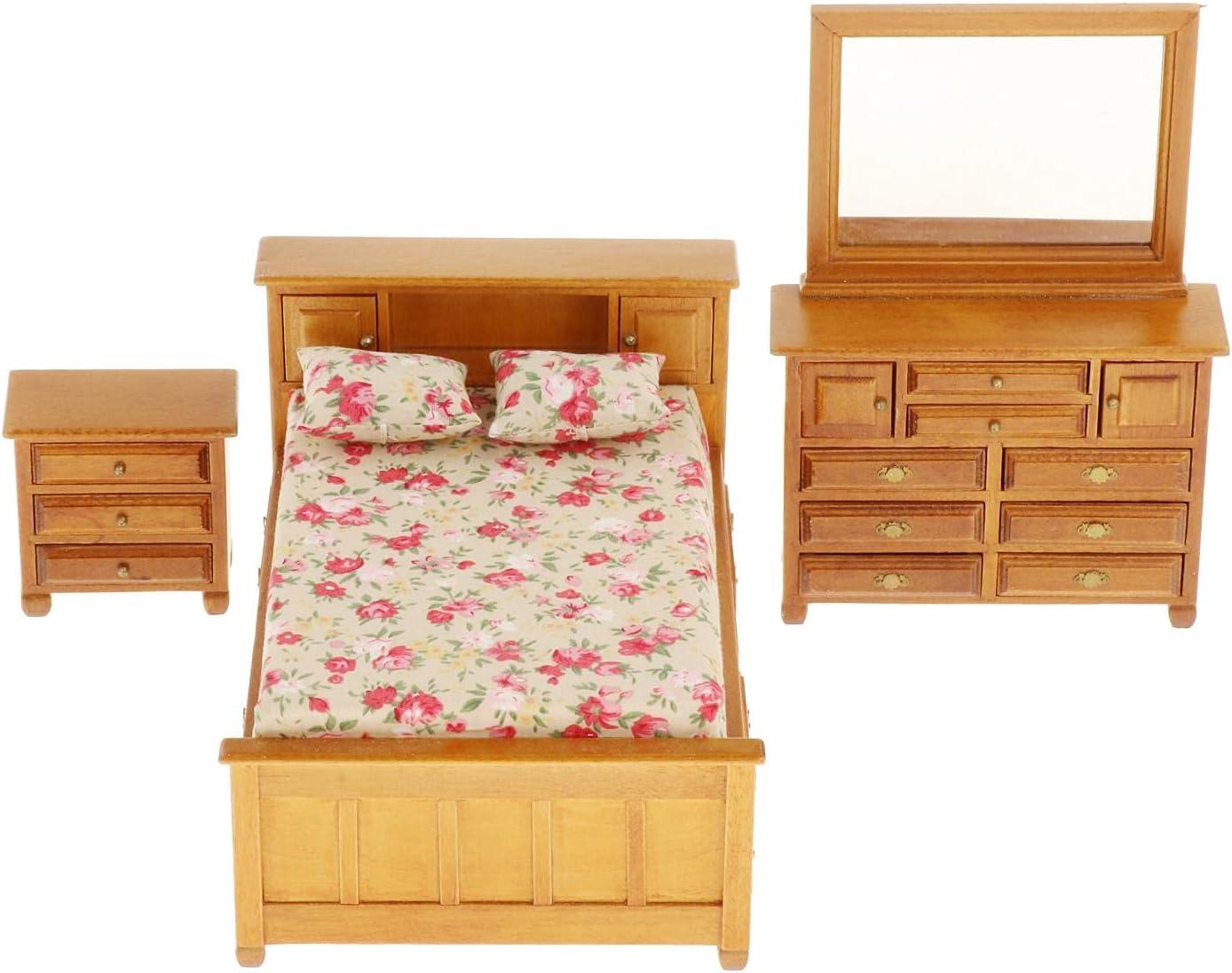 Almencla Miniature Handcraft Wood Stylish Bedroom Furniture 12th