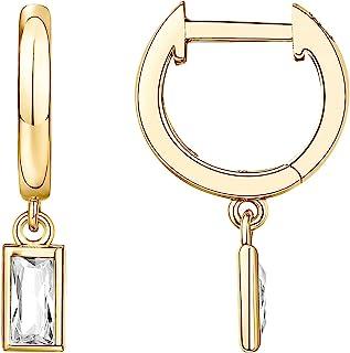 PAVOI 14K Gold Plated S925 Sterling Silver Post Drop/Dangle Huggie Earrings for Women | Dainty Earrings