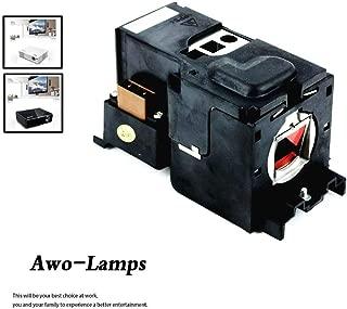 AWO TLPLV8 / TLPLV7 / 75016611 Premium Replacement Lamp with Housing for Toshiba TDP-T45/T45U, TLP-T45, TDP-S35/S35U/SC35/SW35