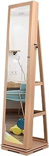 Armoire à Bijoux avec Miroir Organisateur Bijoux 360 ° Rotant En Pleine Longueur De Miroir D'encours D'armoire D'armoire D...