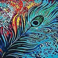 大人と子供のための数字で描くDiyの油絵ギフトキット印刷済みのキャンバスアート家の装飾40x50cmの羽