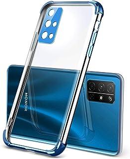 "Hicaseer ケース Huawei Honor 30S, スリムアンチイエロークリアTPUバンパークッションカバーアンチスクラッチ耐衝撃ケース Huawei Honor 30S 6.5"" - ライトグリーン"
