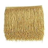 10 Yards Sewing Fringe Trim - Fringe Tassel 15cm Width for Skirt Wedding Dress Lamp Shade Decoration(Gold)