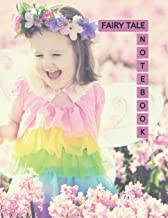 """Fairy Tale Notebook: Cute Little Girl Cover Pink Color 8.5x11"""" 100 Pages Blank Lined Composition Fairies Tale Book - Large..."""