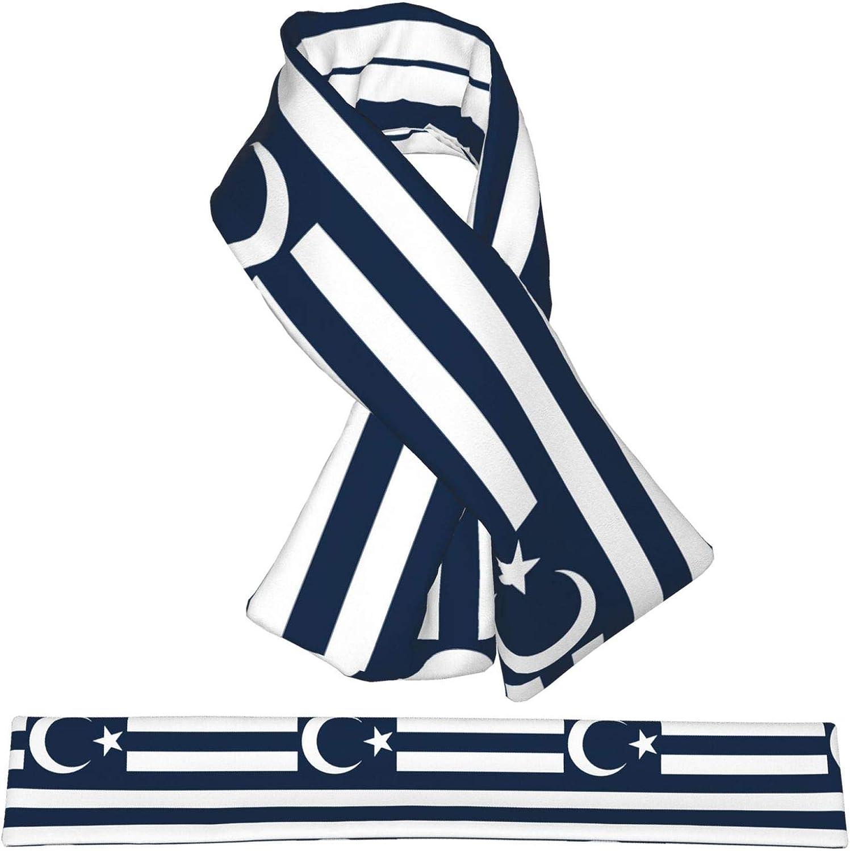 Winter Scarfs Muslim Flag Of Greece Scarves Wraps Neck Warmer Flannel Winter Cross Tie Scarves