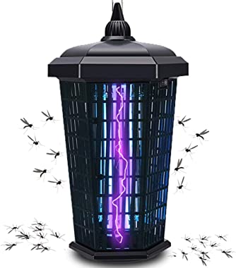Bug Zapper Electronic Mosquito Zappers Killer Dusk to Dawn Sensor UV Insect 4000V 30W Catcher Fly Trap for Flies Waterproof O