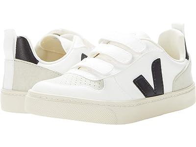 VEJA Kids V-10 Velcro (Little Kid/Big Kid) (White/Black) Kids Shoes