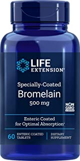 Life Extension Specially-Coated Bromelain 500 Mg, 60 Enteric Coated Tablets