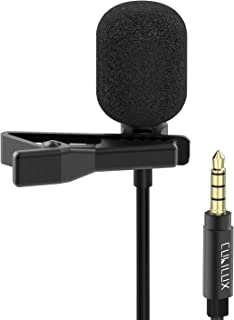 Cubilux 3.5mm Lavalier Microphone, Omnidirectional Lapel Clip MIC for Interviewing/YouTube/Vlog, Compatible with iPhone 6...