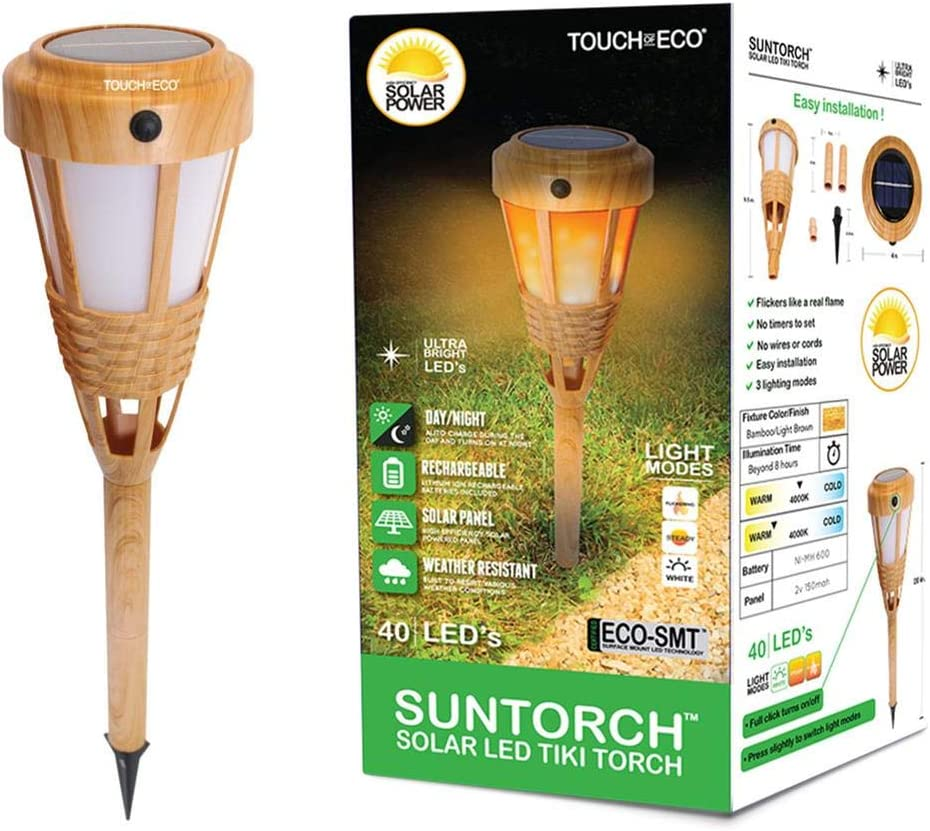 Touch of ECO SUNTORCH - Solar Light Torch Multiple Tiki LED Many popular brands with New Orleans Mall