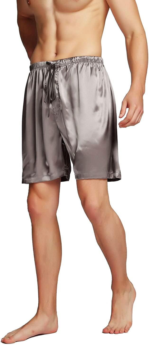 SIHA Men's Satin Pajama Boxer Shorts & Sleep Shorts