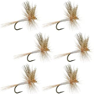 The Fly Fishing Place Light Cahill Classic Trout Dry Fly Fishing Flies - Set of 6 Flies Size 16